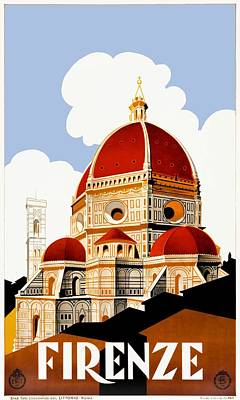 1930 Florence Italy Duomo Travel Poster Poster