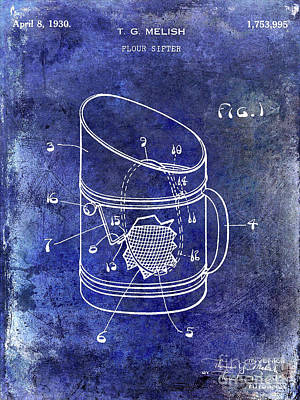 1930 Flour Sifter Patent  Blue Poster