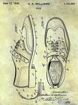 1930 Golf Shoe Patent Poster by Jon Neidert