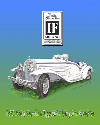 1930 Isotta Fraschini Tippo 8 A Flying Star Roadster Poster by Jack Pumphrey