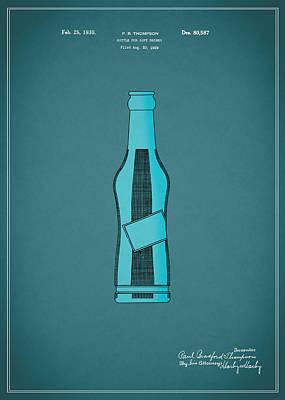 1930 Pepsi Cola Bottle Patent Poster