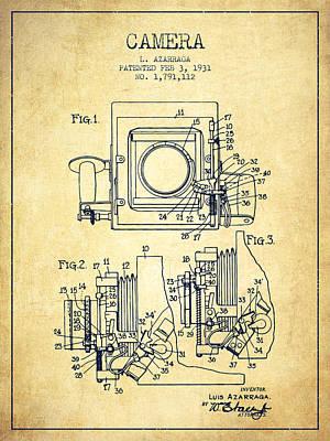 1931 Camera Patent - Vintage Poster