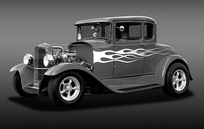 Poster featuring the photograph 1931 Ford Model A 5 Window Coupe  -  1931ford5winmdlacpebw172189 by Frank J Benz