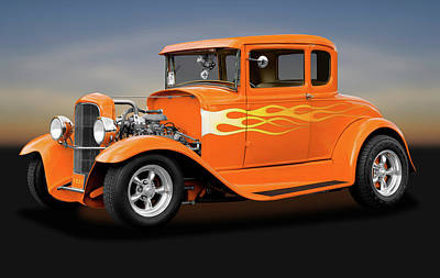 Poster featuring the photograph 1931 Ford Model A 5 Window Coupe  -  1931fordmodela172189 by Frank J Benz