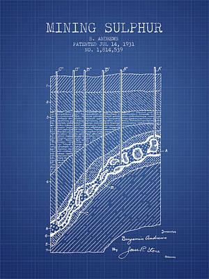 1931 Mining Sulphur Patent En38_bp Poster by Aged Pixel