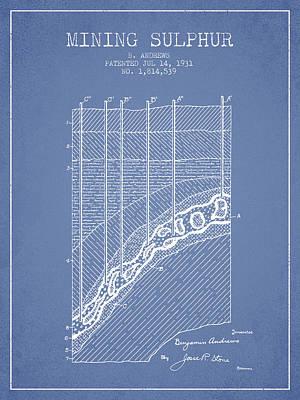 1931 Mining Sulphur Patent En38_lb Poster by Aged Pixel