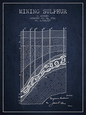 1931 Mining Sulphur Patent En38_nb Poster by Aged Pixel