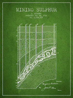 1931 Mining Sulphur Patent En38_pg Poster by Aged Pixel