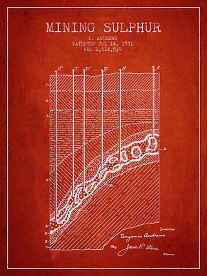 1931 Mining Sulphur Patent En38_vr Poster by Aged Pixel