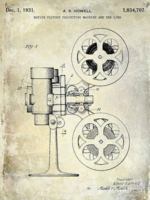 1931 Movie Projector Patent Poster