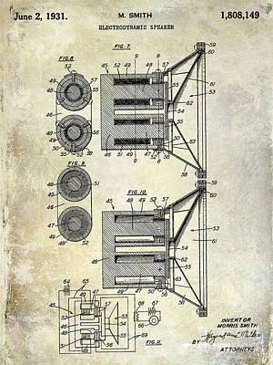 1931 Speaker Patent Drawing  Poster by Jon Neidert