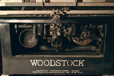 1931 Woodstock Typewriter Back View Poster by Brian Davis