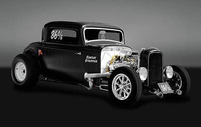 1932 Ford 3 Window Coupe - Sunday Stripper  -  1932ford3wincoupegry170803 Poster