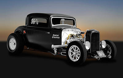 1932 Ford 3 Window Coupe - Sunday Stripper  -  1932forddeuce3windowcoupe170803 Poster