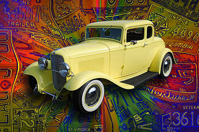 1932 Ford Coupe Poster by Richard Farrington