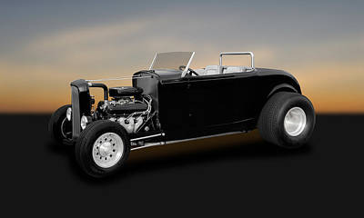 1932 Ford Deuce Coupe Convertible Hot Rod   -   32fdducp400 Poster