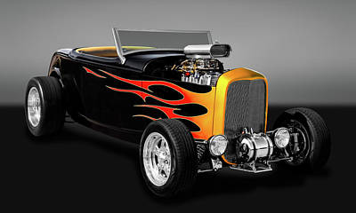 1932 Ford Deuce Coupe High Boy - Grounds 4 Divorce  -  32fordhbgry9579 Poster