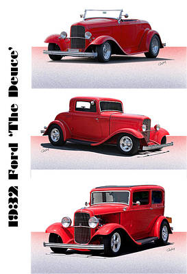 1932 Ford 'triple Deuce' Poster by Dave Koontz