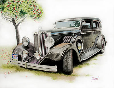 1932 Hupmobile Poster by Ferrel Cordle