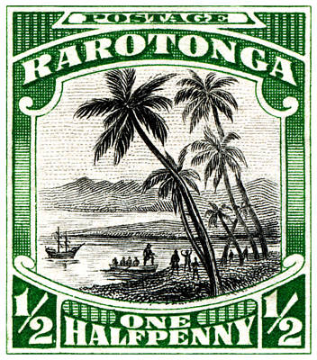 Poster featuring the painting 1932 Landing Of Captain Cook Stamp by Historic Image