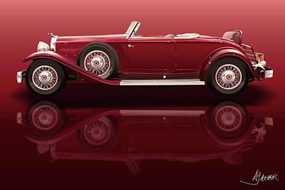 1932 Packard 904 Roadster Poster