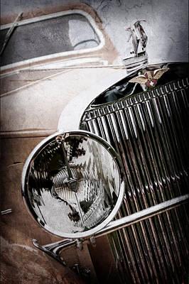 1933 Hispano-suiza J12 Vanvooren Coupe Grill Emblem - Hood Ornament -0777ac Poster by Jill Reger