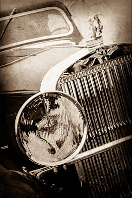 1933 Hispano-suiza J12 Vanvooren Coupe Grill Emblem - Hood Ornament -0777s Poster by Jill Reger