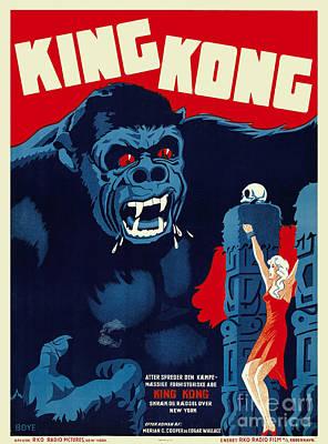 1933 King Kong Danish Movie Poster Poster by Jon Neidert