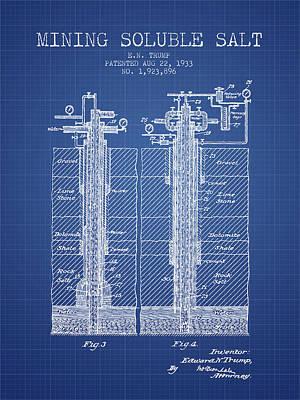 1933 Mining Soluble Salt Patent En40_bp Poster by Aged Pixel