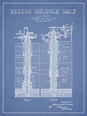 1933 Mining Soluble Salt Patent En40_lb Poster by Aged Pixel