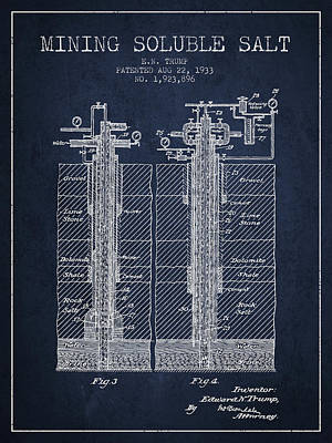 1933 Mining Soluble Salt Patent En40_nb Poster by Aged Pixel