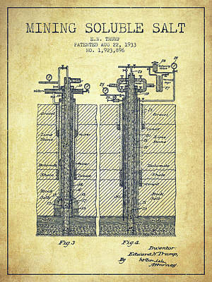 1933 Mining Soluble Salt Patent En40_vn Poster by Aged Pixel