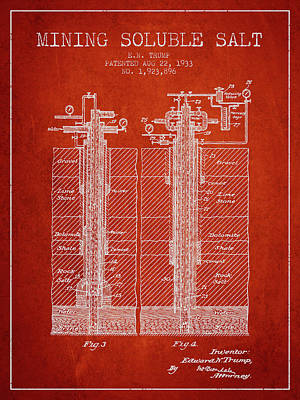 1933 Mining Soluble Salt Patent En40_vr Poster by Aged Pixel