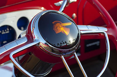 1933 Pontiac Steering Wheel Poster by Jill Reger