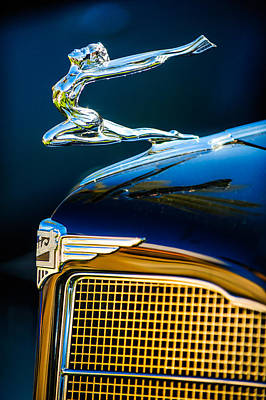 1934 Buick Series 96-c Convertible Coupe Hood Ornament - Emblem Poster by Jill Reger