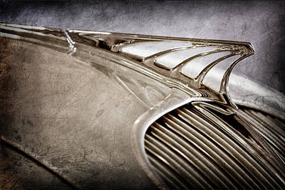 Poster featuring the photograph 1934 Desoto Airflow Coupe Hood Ornament -2404ac by Jill Reger