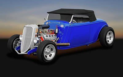 1934 Ford Convertible  -  1934fordhemiconvertible170850 Poster
