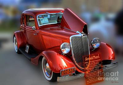 Poster featuring the photograph 1934 Ford Coupe by Dyle   Warren