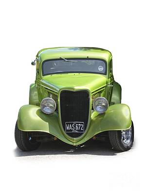 1934 Ford Street Hot Rod On A Transparent Background Poster