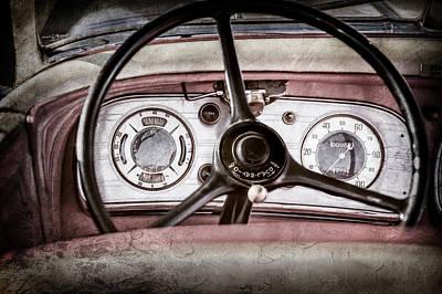 1935 Auburn 851 Supercharged Boattail Speedster Steering Wheel -0862ac Poster by Jill Reger