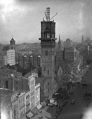 Poster featuring the photograph 1935 Back Bay Construction, Boston by Historic Image