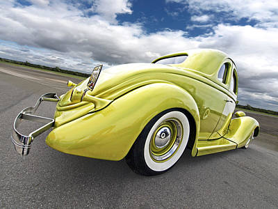 1935 Ford Coupe Poster by Gill Billington