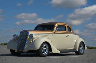 1935 Ford Coupe Hot Rod Poster by Tim McCullough