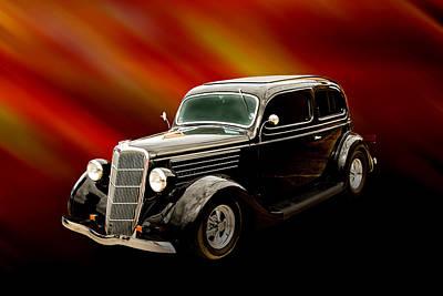 1935 Ford Sedan Vintage Antique Classic Car Art Prints 5030.02 Poster by M K  Miller