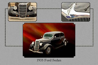 1935 Ford Sedan Vintage Antique Classic Car Art Prints 5031.02 Poster by M K  Miller