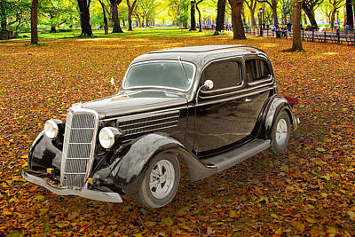 1935 Ford Sedan Vintage Antique Classic Car Art Prints 5033.02 Poster by M K  Miller