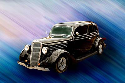 1935 Ford Sedan Vintage Antique Classic Car Art Prints 5034.02 Poster by M K  Miller