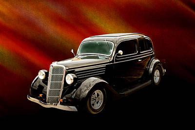 1935 Ford Sedan Vintage Antique Classic Car Art Prints 5035.02 Poster by M K  Miller