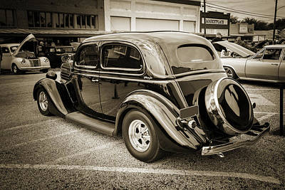 1935 Ford Sedan Vintage Antique Classic Car Art Prints 5068.01 Poster by M K  Miller