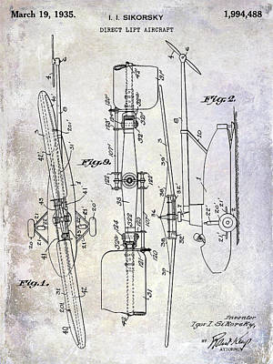 1935 Helicopter Patent  Poster